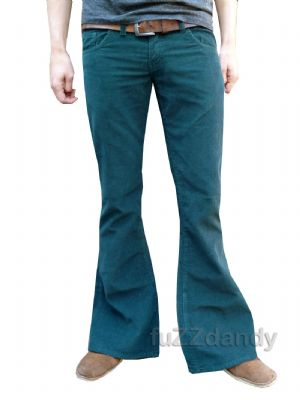 Classic Cords Flares - Corduroy Bell Bottoms Trousers Pants - Green